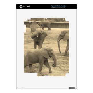 Elefantes - por la sabana del helecho calcomanías para el iPad 2