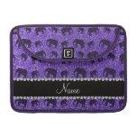 Elefantes púrpuras conocidos personalizados del br fundas macbook pro