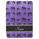 Elefantes púrpuras conocidos personalizados del cover de iPad air