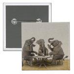 Elefantes que tienen la fiesta del té pins