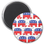 Elefantes republicanos desconcertados iman de frigorífico