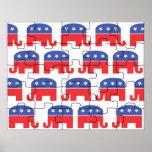 Elefantes republicanos desconcertados posters