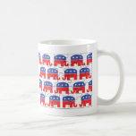 Elefantes republicanos desconcertados tazas