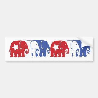 Elefantes republicanos pegatina para auto