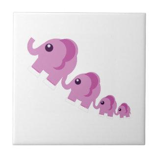 Elefantes rosados teja cerámica