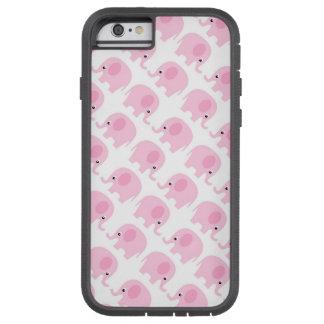 Elefantes rosados funda de iPhone 6 tough xtreme