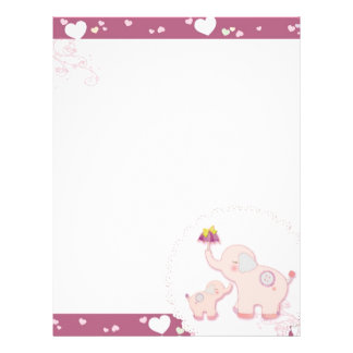 Elefantes rosados + Papeles con membrete del libro Membrete