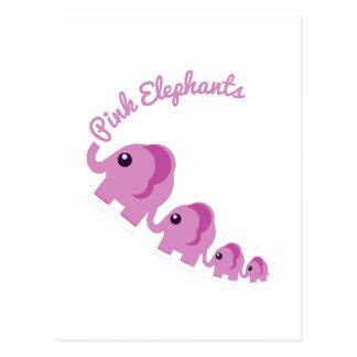 Elefantes rosados postal
