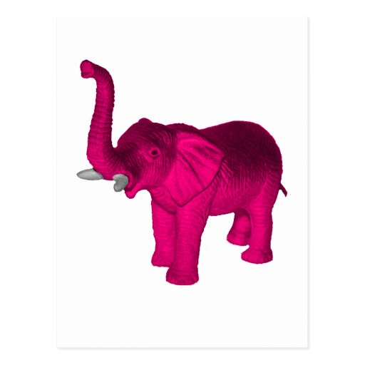 Elefantes rosados tarjetas postales