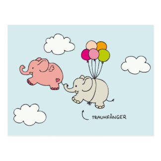Elefantes rosas - captores de sueño tarjeta postal