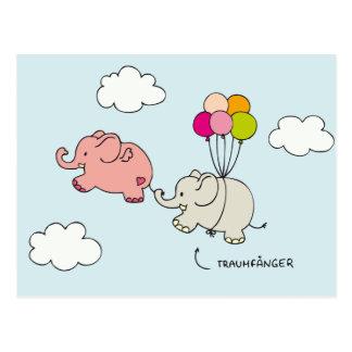 Elefantes rosas - captores de sueño postales