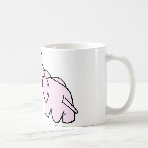 Elefantes Snuggling Taza De Café