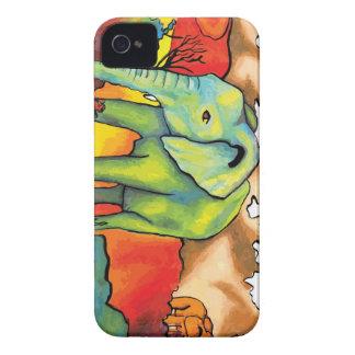 Elefantes surrealistas Case-Mate iPhone 4 protectores