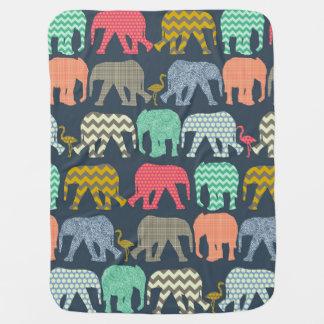 elefantes y flamencos del bebé mantitas para bebé