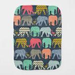 elefantes y flamencos del bebé paños de bebé