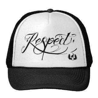 elefent industries Tattoo Script Respect Trucker Hat
