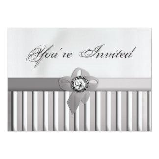 Elegan You're Invited (Silver) 5x7 Paper Invitation Card
