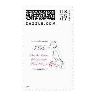 Elegance_bachelorette party postage stamp