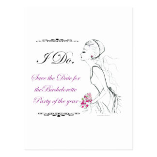 Elegance_bachelorette party postcard