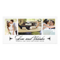 Elegance Collage | Wedding Thank You Photo Card