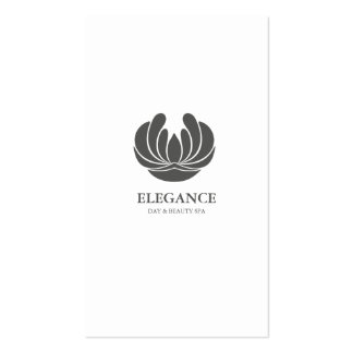 ELEGANCE FLOWER DESIGN SPA WELLNESS GREY WHITE Double-Sided STANDARD BUSINESS CARDS (Pack OF 100)
