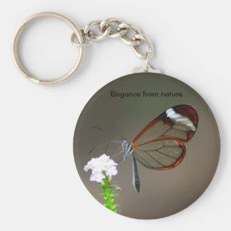 Elegance from nature basic round button keychain