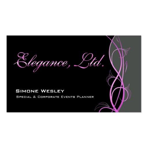 Elegance Gala Events Planner Coordinator Business Card Template
