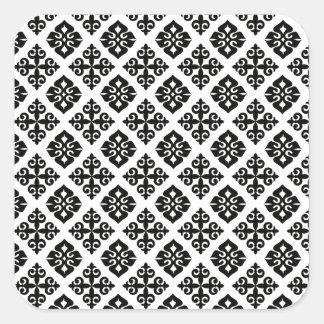 Elegance in Black & White Square Sticker