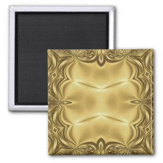 Elegance In Gold 2 Inch Square Magnet