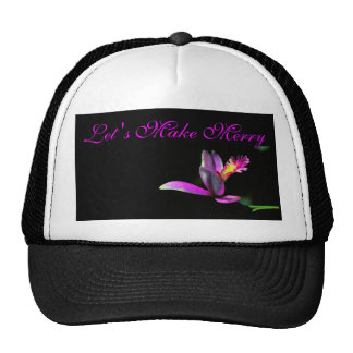 Elegance of Orchid Floral Make Merry Xmas Design Trucker Hat
