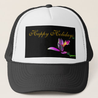 Elegance of Orchid Floral Xmas Holiday Design Trucker Hat