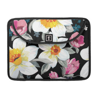 Elegance pattern with narcissus flowers MacBook pro sleeves