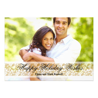 Elegance - Photo Holiday Card Custom Announcement