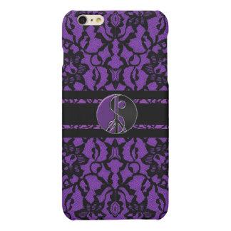 Elegance Purple Black Lace Yin Yang iPhone 6 Plus Matte iPhone 6 Plus Case