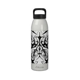 Elegance Tribal Tattoo Digital Collage Water Bottles