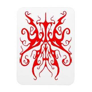 Elegance Tribal Tattoo - red Magnet