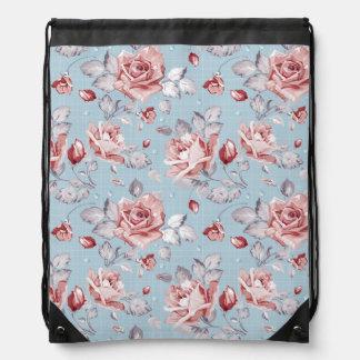 Elegance wallpaper pattern of pink roses 2 backpacks