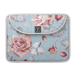 Elegance wallpaper pattern of pink roses 2 sleeves for MacBook pro