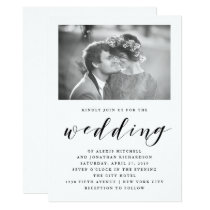 Elegance | Wedding Invitation with Photo