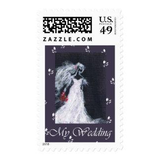 Elegance wedding postage stamp
