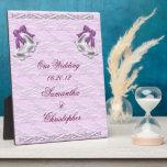 Elegancia #1 de la lila placa de plastico