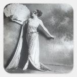 Elegancia 2 del vintage pegatina cuadrada