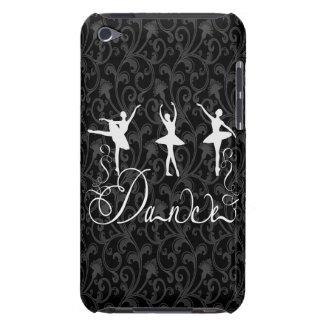 Elegancia blanco y negro del brocado de la danza iPod touch carcasa