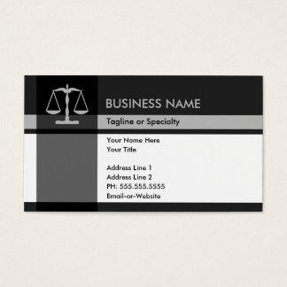elegancia de la justicia tarjetas de visita