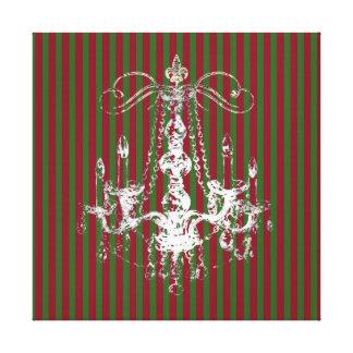 Elegancia de la lámpara - navidad envuelto de la impresiones en lona