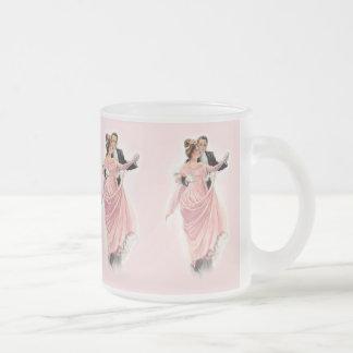 Elegancia de la tarde taza cristal mate