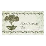 Elegancia de los bonsais tarjetas de visita