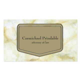 Elegancia de mármol de color topo clásica del tarjetas de visita