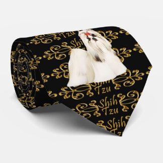 Elegancia de Shih Tzu Corbata Personalizada