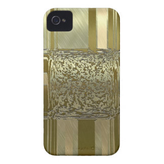 elegancia del arte del metal de oro iPhone 4 cárcasas